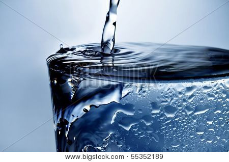 closeup of a refreshing glass of water
