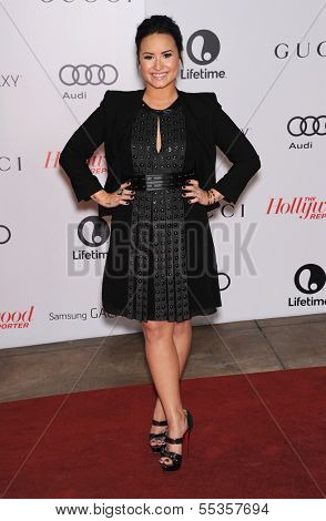 LOS ANGELES - DEC11:  Demi Lovato arrive to Women in Entertainment Breakfast 2013  on December 11, 2013 in Hollywood, CA