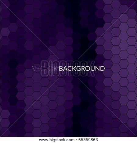 Digital hexagon pixel mosaic, bright background