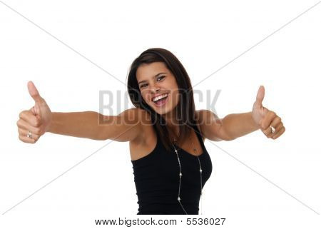 Overjoyed Beautiful Woman