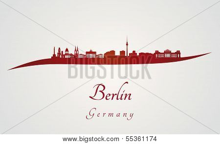 Berlin Skyline In Red