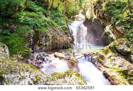 Waterfall,  Julian Alps