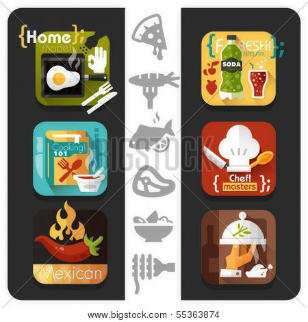 Food icons - flat series