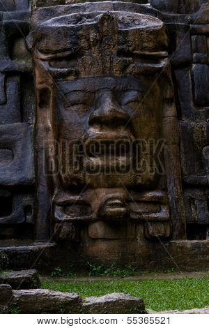 Mask Temple, Lamanai Belize