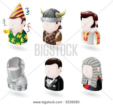 Conjunto de ícones da Internet de pessoas avatar