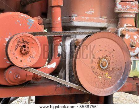 Vintage Belt Driven Engine Gear Wheels