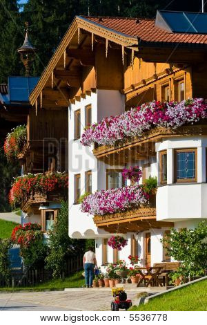 House With Beautiful Flowers Balcony