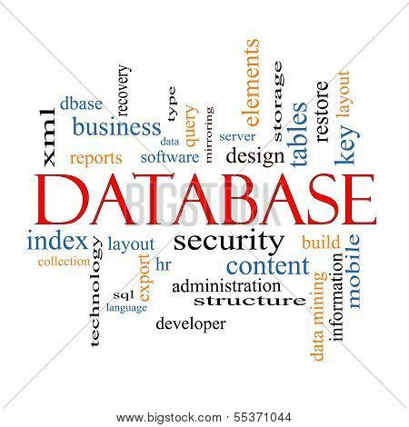 Database Word Cloud Concept