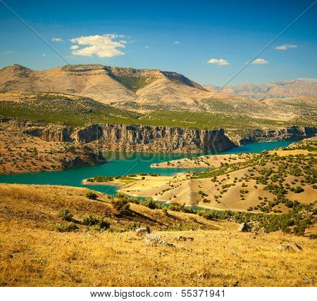 Canyon of Euphrates River. Turkey