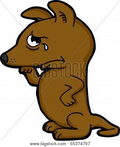 Sad Dog Wiping Nose