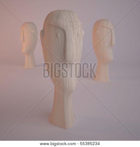Wooden Stature