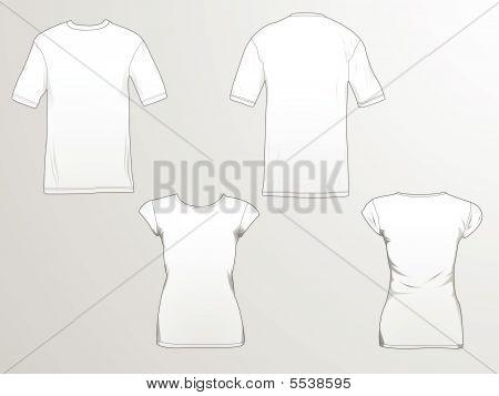 Modelo de t-shirt