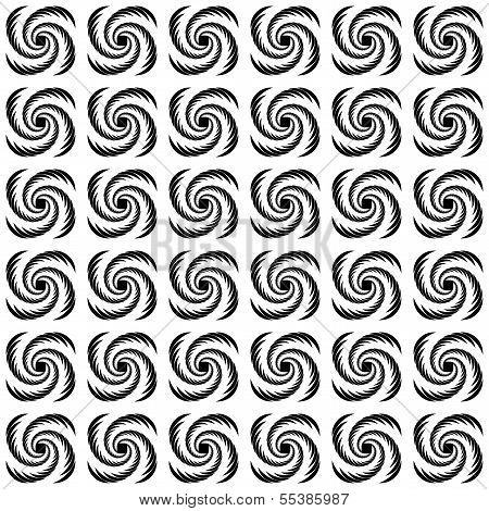 Design Seamless Uncolored Wave Pattern