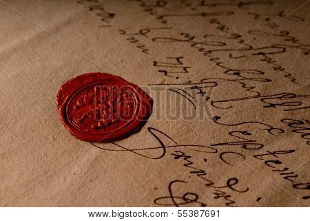 Old Seal with Document