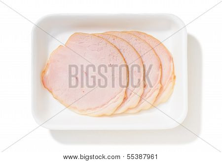 Slices Of Roll Ham With Rind