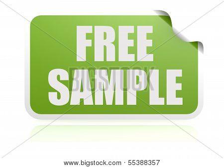 Free sample green sticker