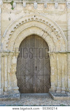 Very Old Church Door