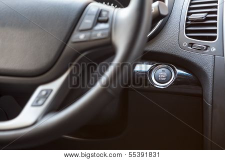 Button Of Automatic Start And Stop The Engine Car