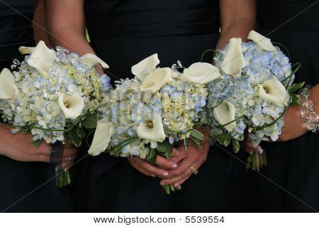 Trio von Blumensträußen