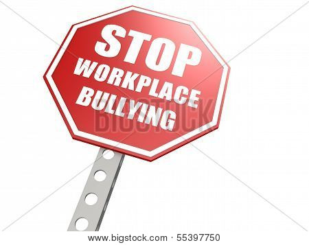 Stop workplace bullying road sign