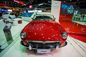 MGB car display on stage