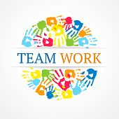 foto of daycare  - Color team work symbol - JPG