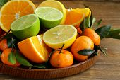 image of clementine-orange  - different types of citrus fruits  - JPG