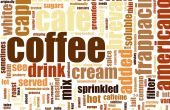 foto of latte coffee  - Coffee Artistic Menu as a Abstract Background - JPG