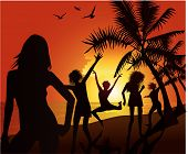 picture of beach party  - beach party - JPG