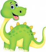 picture of terrific  - Vector illustration of Cute dinosaur cartoon isolated on white background - JPG