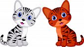 foto of cat-tail  - Vector illustration of Cute baby cat cartoon - JPG