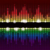 stock photo of fluorescent  - Rainbow digital equalizer background - JPG