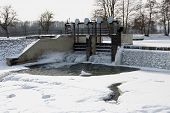 Small sluice on the River Morava in Litovel