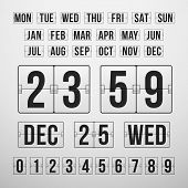 foto of countdown timer  - Vector Countdown Timer and Date - JPG