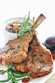 Lamb Chops with Prune Chutney