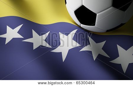 Bosnian flag, football