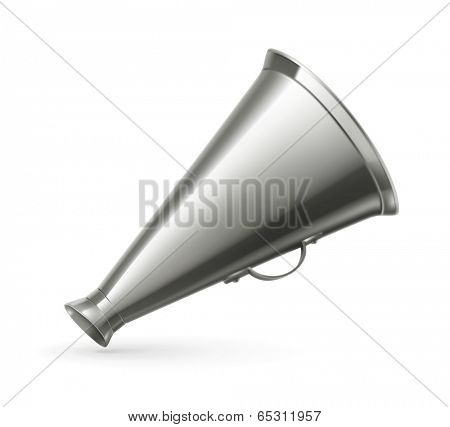 Vintage megaphone, vector illustration
