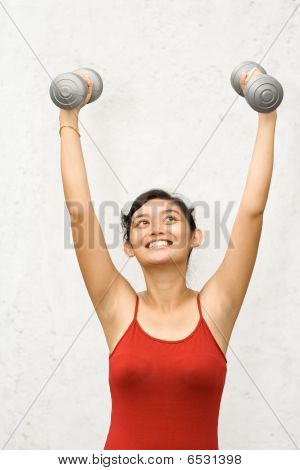 Fitness Woman Working Out