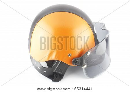Orange Black Motorcycle Helmet