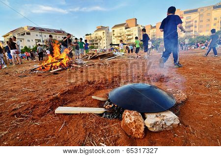 Lag Baomer Taboon And Bonfires In Israel