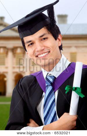 Graduation Man Portrait