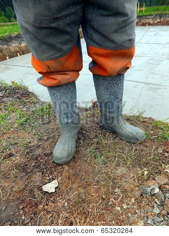 Rubber Boots After Concreting