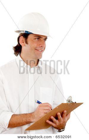 Architect Making Notes