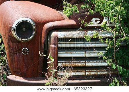Rusty Old Junkyard Truck