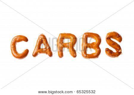 Alphabet Pretzel Written Word Carbs Isolated