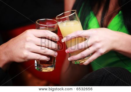 Hands With Drinks