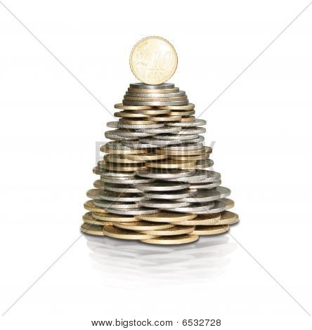 Moneytree with coins