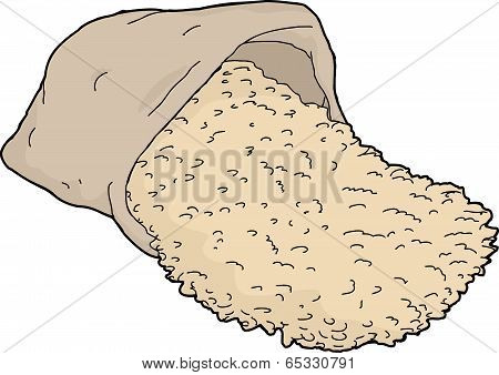 Tipped Over Rice Bag