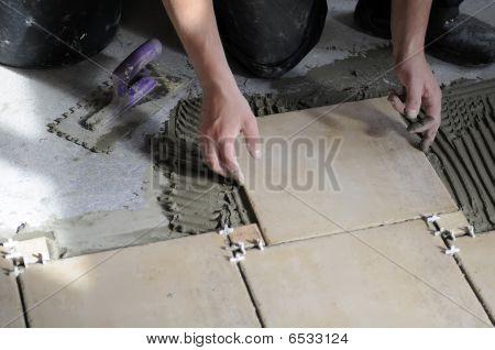 Tiles installation