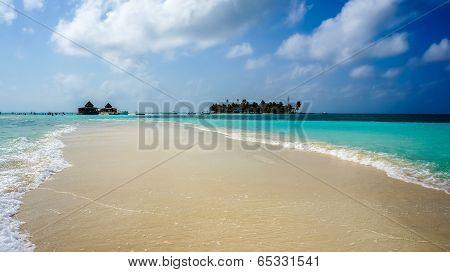 Sandbank in Caribbean